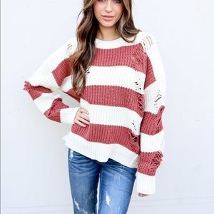 """Sweaters - """"The chills"""" vici distressed sweater"""